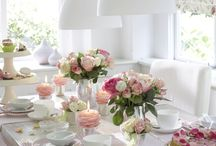 Dining room and table setting