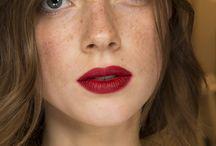 Red wine lips