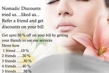 50 % off on your bill by getting your friends / The #Nomadic_Spalon Discounts!!! tried us....liked us... Refer a friend and get discounts on your bill get upto 50 % off on your bill by getting your friends to use our services!!!