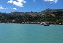 Akaroa, New Zealand / Akaroa, New Zealand as we tendered from Celebrity Solstice