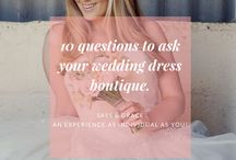 10 Questions to ask your wedding dress boutique.