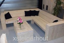 Hoekbank artikel nummer 23 xsteigerhout.nl / Verschillende uitvoeringen van 1 model