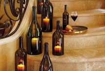 Glass bottles & jars / Cutting for decoration