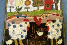 hooked rugs primitive and funny / by Janice Davey