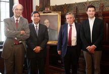 Grandes figuras en la Universidad de Chile / Reconocidos personajes mundiales que han pasado por la Casa de Bello.