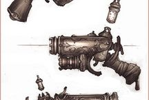 Steampunk Concept Weaponry