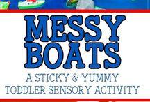 messy boats