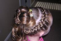 Girls Hair and Nails / Hairstyles for the girls. / by Kelly Lutz