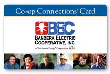 Co-op Connections Card / The Bandera Electric Co-op Connections Card is a Touchstone Energy's free membership card.  The card offers cooperative members more than 24,000 local and national deals on products and services.