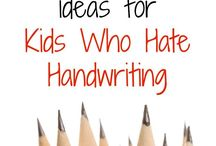 Handwriting / Handwriting, pencil grip, fonts, accomodations and adaptive technologies