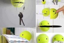PAC ball / A tennis ball cut on its side