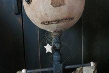 Merry Halloween / Handmade primitive fall and Halloween dolls