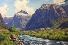 My Landscape Paintings / A collection of my landscape paintings of New Zealand