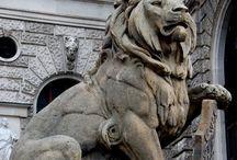 Art - Скульптура - Львы