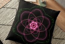 Cushions & Cushion Covers / Bring a pop of colour of a fabulous new design into your room with our vivid selection of cushion covers for throw pillows and floor cushions.  #redbubble #kasumicrafts #cushions #homedecor