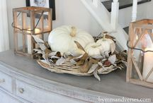Fall Coastal Style / Here are some great ideas to bring fall in to your home but still keep the coastal style.