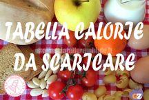 Tabella / Tabella calorie