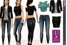 The Sims 4 clothing downloads YAF/AF
