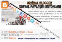 Orjinal Blogger Sosyal Paylaşım Butonları