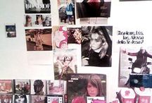 Lord fauntleroy studio/collage walls and collage in progress