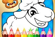 123 Kids Fun Coloring Book / #coloring #kids #fun #creative #crafts #art #play #games #apps
