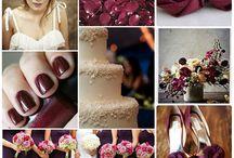 Винная свадьба- цвет MARSALA