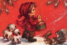 vintage kerst plaatjes