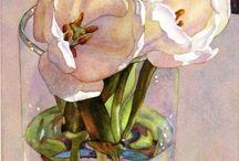 Watercolors flowers