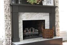 Fireplace / Fireplaces, mantles and fixtures that I love for fireplaces.