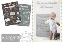 Birthday party celebrations / Milestone Birthday boards recording milestones and memories of a child's first year