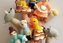 amigurumi - finger puppets