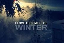 The smell of winter
