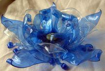 plastic flowers etc.