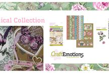 CraftEmotions Botanical / A collection matching products for cardmaking, mixed media and more. Available products: decorated paperstack, clearstamps, masks, wooden ornaments