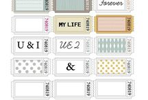 Printables / Free printables to be used for home decor and framed art.