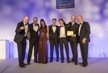 Relocation Agent Network Gala Dinner & Award Ceremony #RAN15 / Some of fellow network members celebrating after winning Awards at the Relocation Agent Network National Conference and Awards Dinner. Held at the Park Plaza Riverbank Hotel, London on Friday 13 November