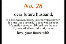 Note for My Future Husband