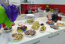 Sunbeam's First Birthday at Brand Smart / Celebrations at Sunbeam Australia Outlet Store's First Birthday Sale at Brand Smart. Celebrations include Face Painting. Free Balloons. Party Food and Product Demonstrations.