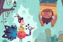 Q1 Project Inspiration - Children Book Illustrations