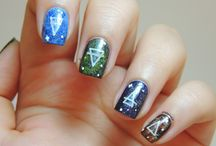Elements nails - Water Earth Air Fire