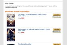AMAZON NOTICES … / AMAZON sends around emails about books and products. I do love it when they point to books of mine. Means that Amazon's noticing me. And that you, my dear readers, are noticing my bookies, too. Amazon notices clicks and views and purchases and reviews. Thank you!