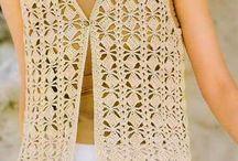 pletené a háčkované vesty