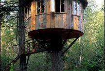 Træ top huse
