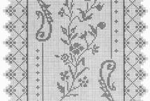 Crochet - curtains, tablecloth, tablerun.....