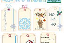 Etiquetas navidad imprimibles / Etiquetas imprimibles para regalos navideños