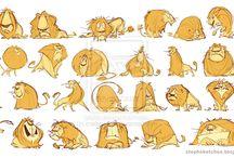 животные рисунок, персонажи