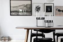 Monochrome / A pared-back palette of black, off-whites and greys create a simple, striking look. With patterns on textiles and ceramics you can add an eclectic, almost tribal feel.