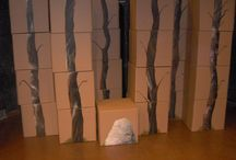 cardboard set design