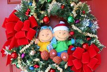 Peanuts Charlie Brown Wreaths / Wreaths I have made inspired by Classic Peanuts Holiday films from my youth. It's the Great Pumpkin Charlie Brown & Charlie Brown Christmas