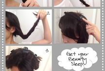 hair styling ideas / by Liz Fairfax